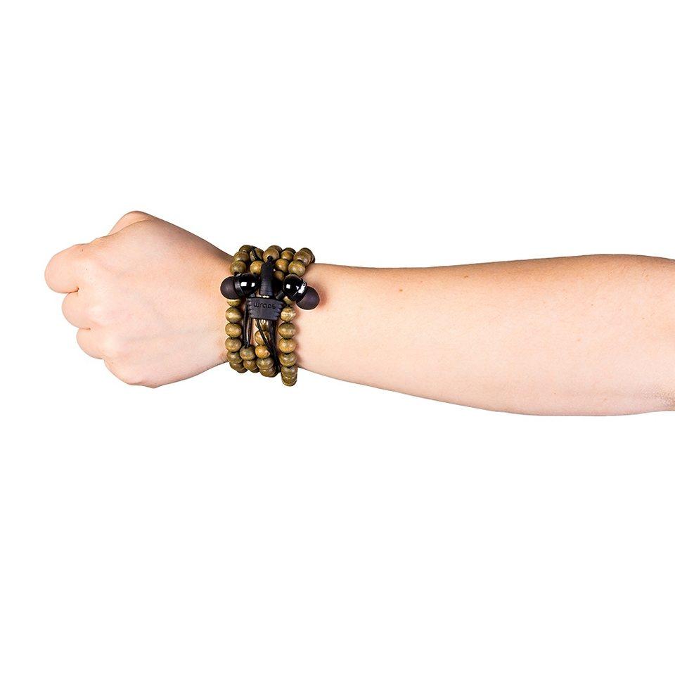 Midbass Kopfhörer »Premium Wooden Beads Wrap« in braun