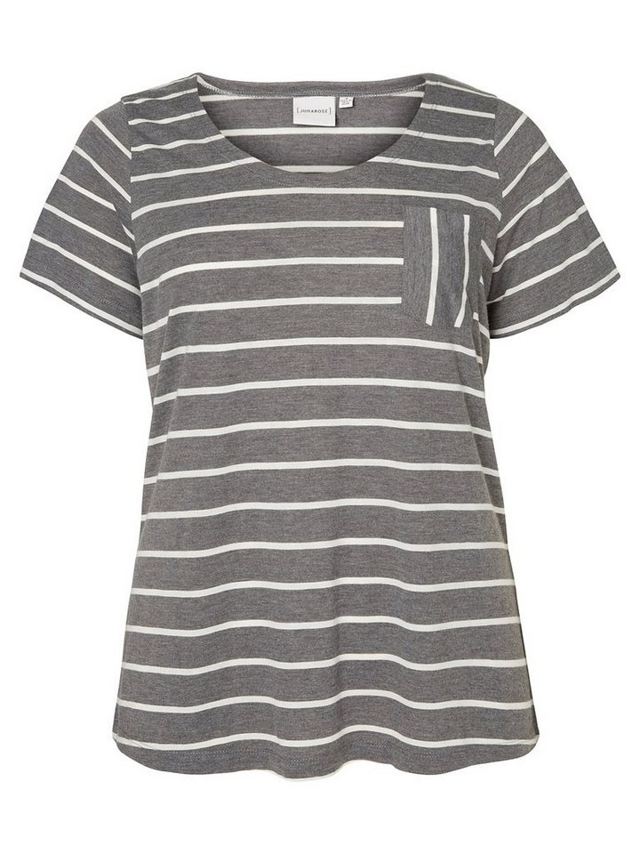 JUNAROSE Kurzärmeliges T-Shirt in Medium Grey Melange