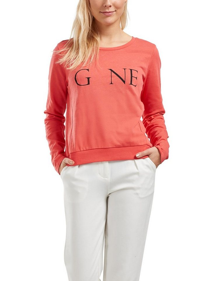 Only Bedrucktes Sweatshirt in Spiced Coral