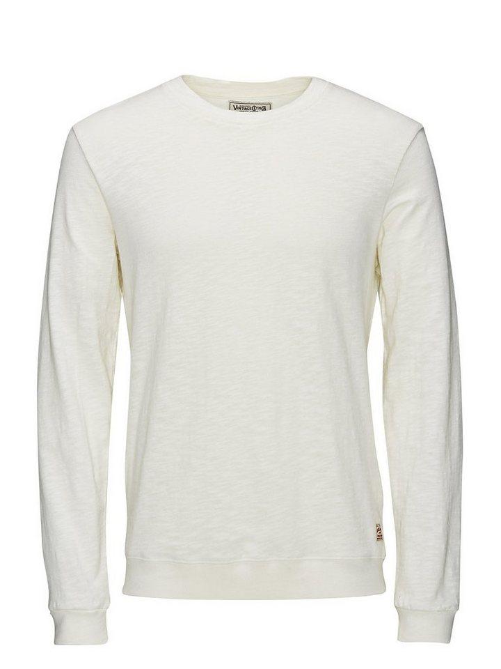 Jack & Jones Leichtes Rundhalsausschnitt- Sweatshirt in Whisper White