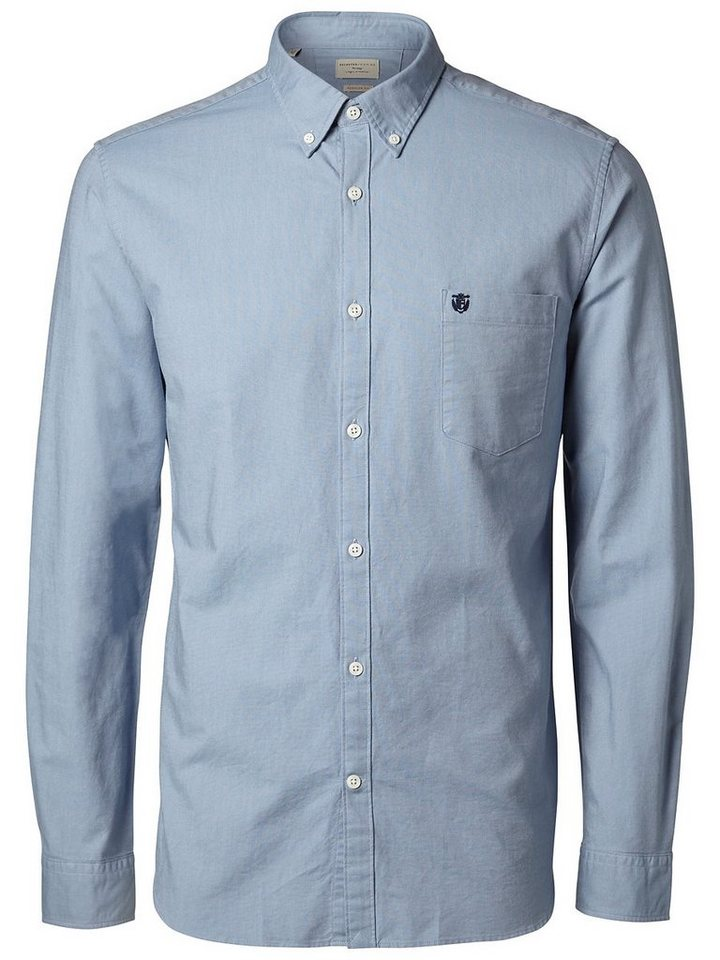Selected SHCollect - Slim fit - Langarmhemd in Dusty Blue