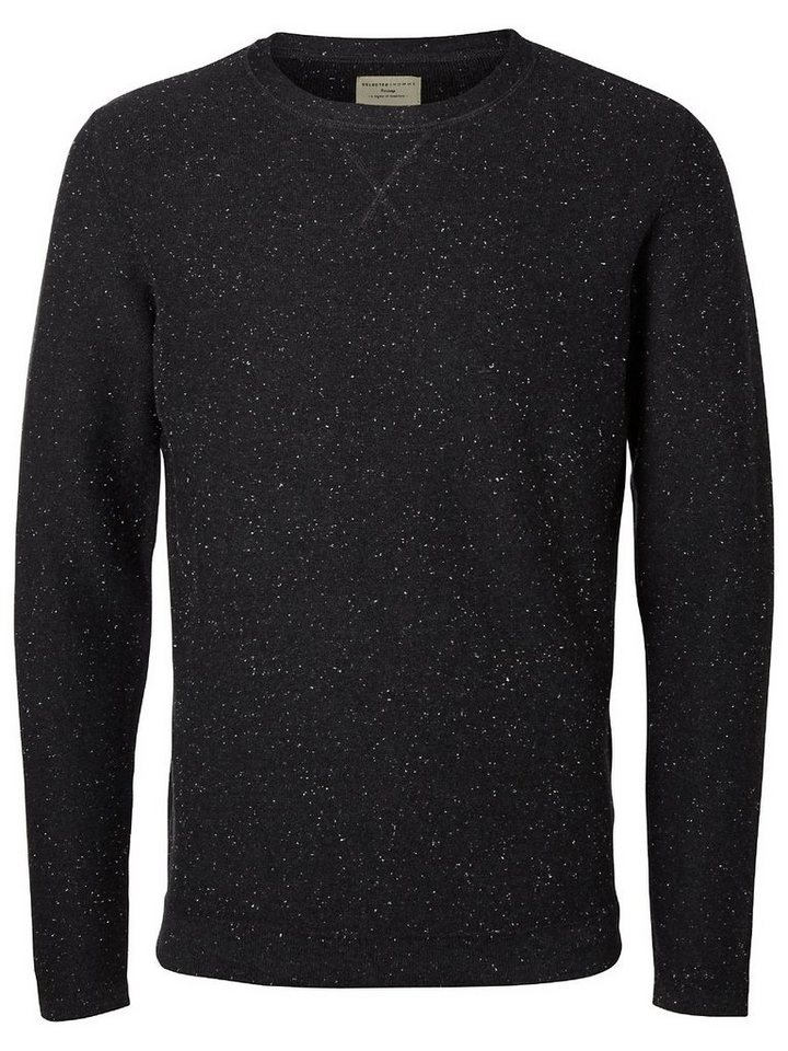 Selected Crew neck - Strickpullover in Anthracite