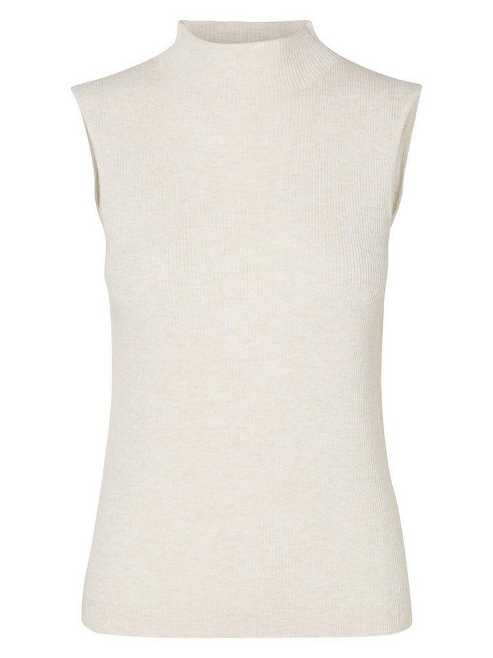 Vero Moda Tight-Fit-Ripp- Rollkragenpullover in Moonbeam 2