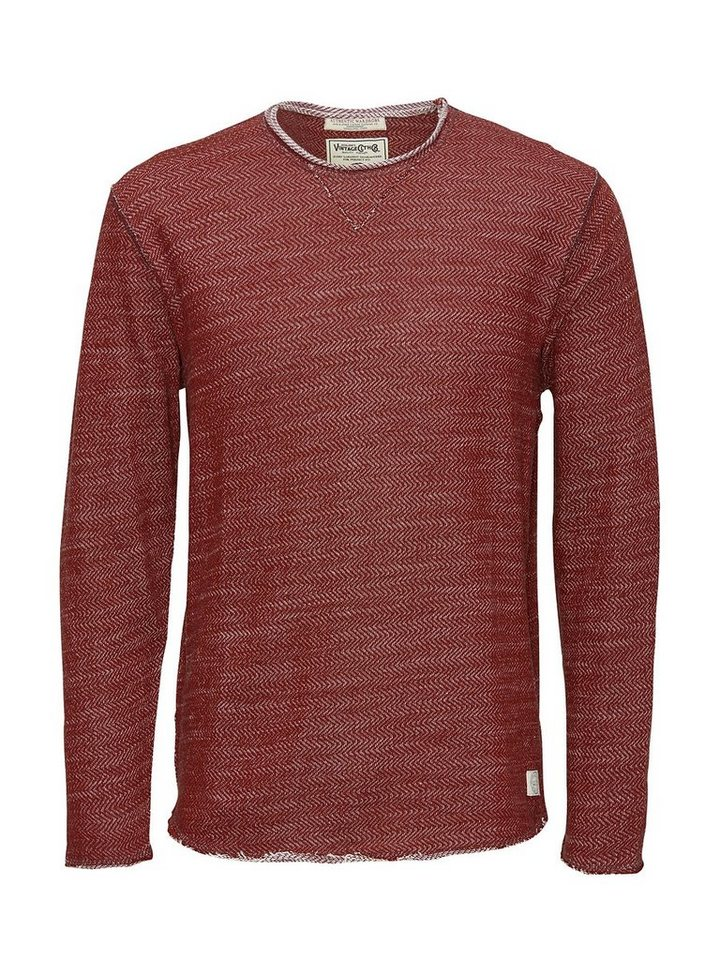 Jack & Jones Authentisches, leichtes Sweatshirt in Fired Brick