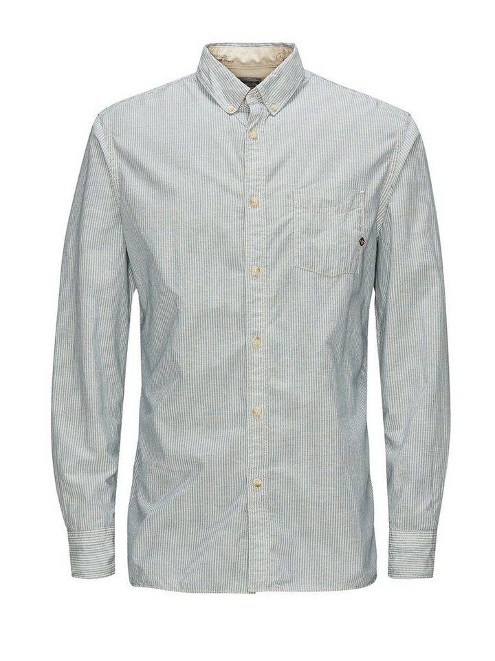 Jack & Jones Button-Down Freizeithemd in Whisper White