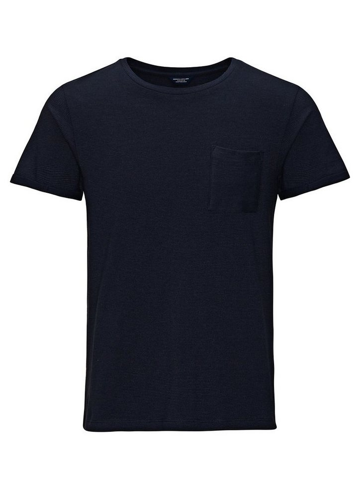 Jack & Jones Gemustertes Ein-Taschen T-Shirt in Navy Blazer