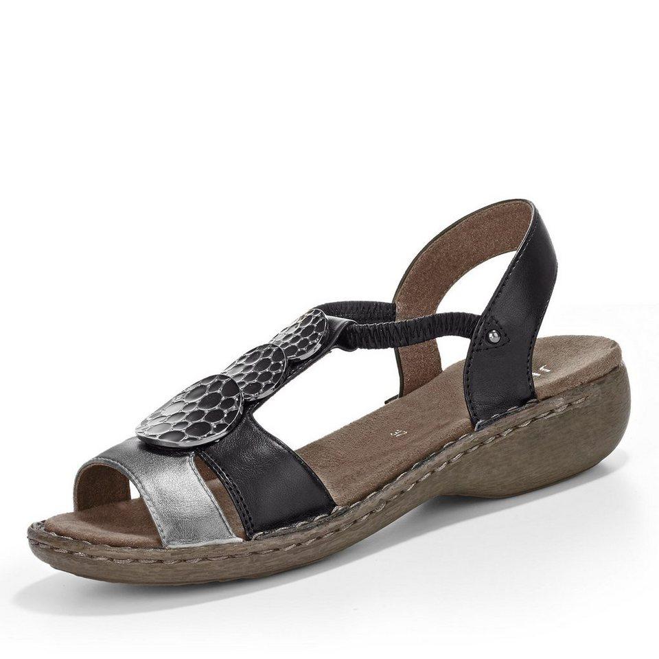 Jenny Korsika Sandale in schwarz/silber