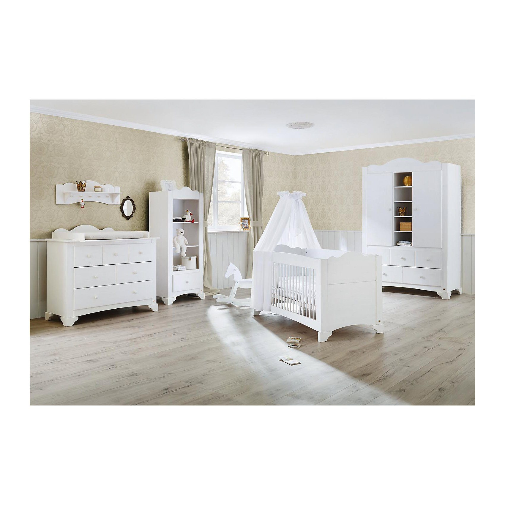 Pinolino Komplett Kinderzimmer PINO, (Kinderbett, Wickelkommode und K