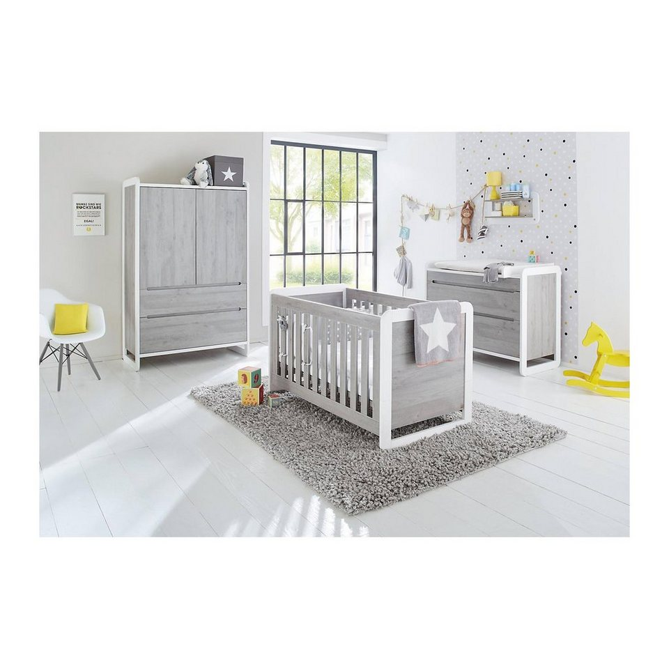 pinolino komplett kinderzimmer curve kinderbett wickelkommode und online kaufen otto. Black Bedroom Furniture Sets. Home Design Ideas