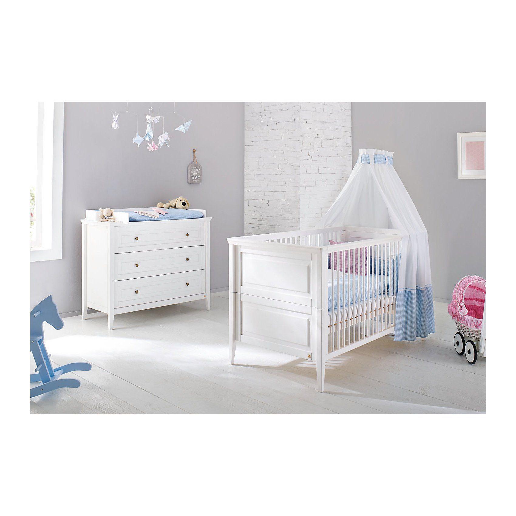 Pinolino Sparset SMILLA, (Kinderbett und Wickelkommode), Kiefer weiß