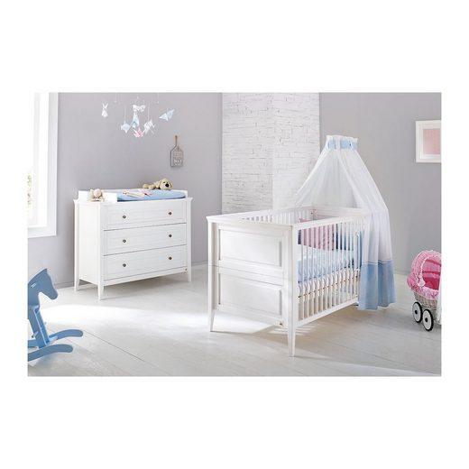 pinolino sparset smilla 2 tlg kinderbett und wickelkommode kiefe online kaufen otto. Black Bedroom Furniture Sets. Home Design Ideas