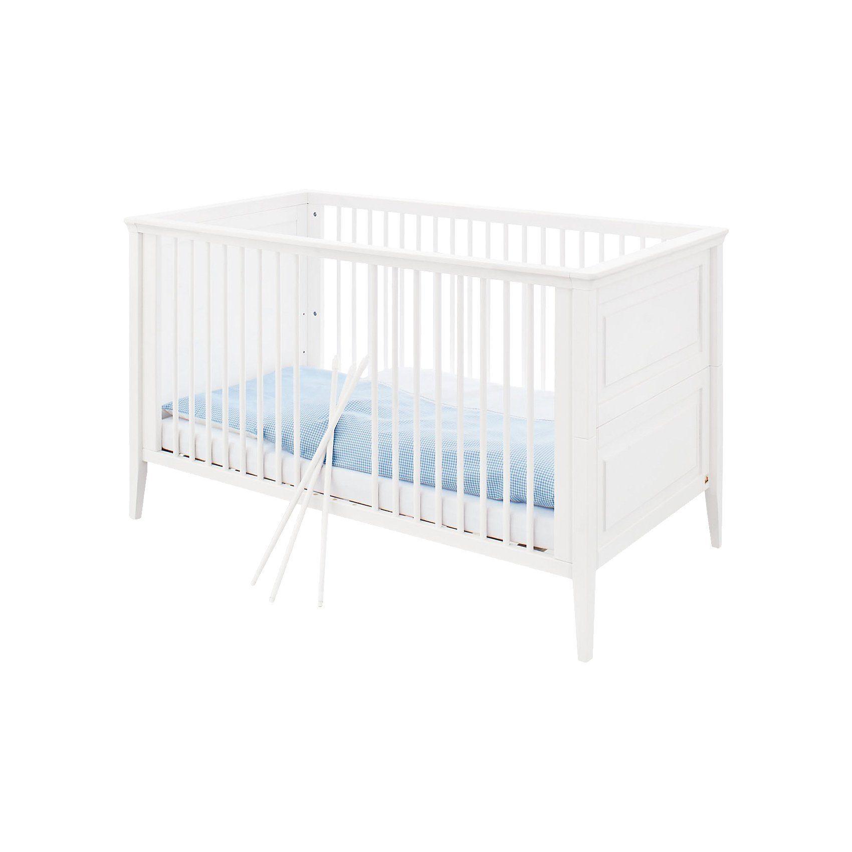 Pinolino Kinderbett SMILLA, Kiefer weiß lasiert, 70 x 140 cm