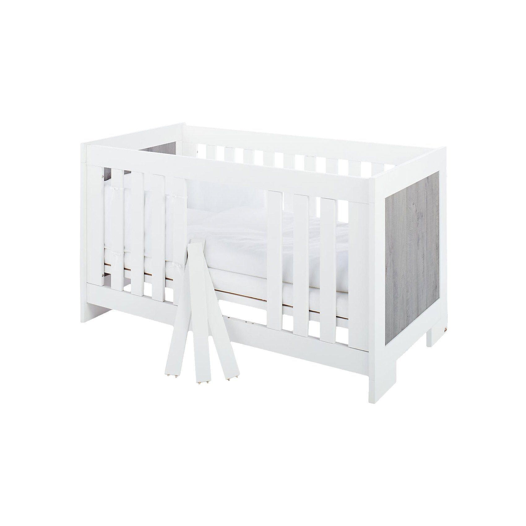 Pinolino Kinderbett LOLLE, Esche grau, 70 x 140 cm