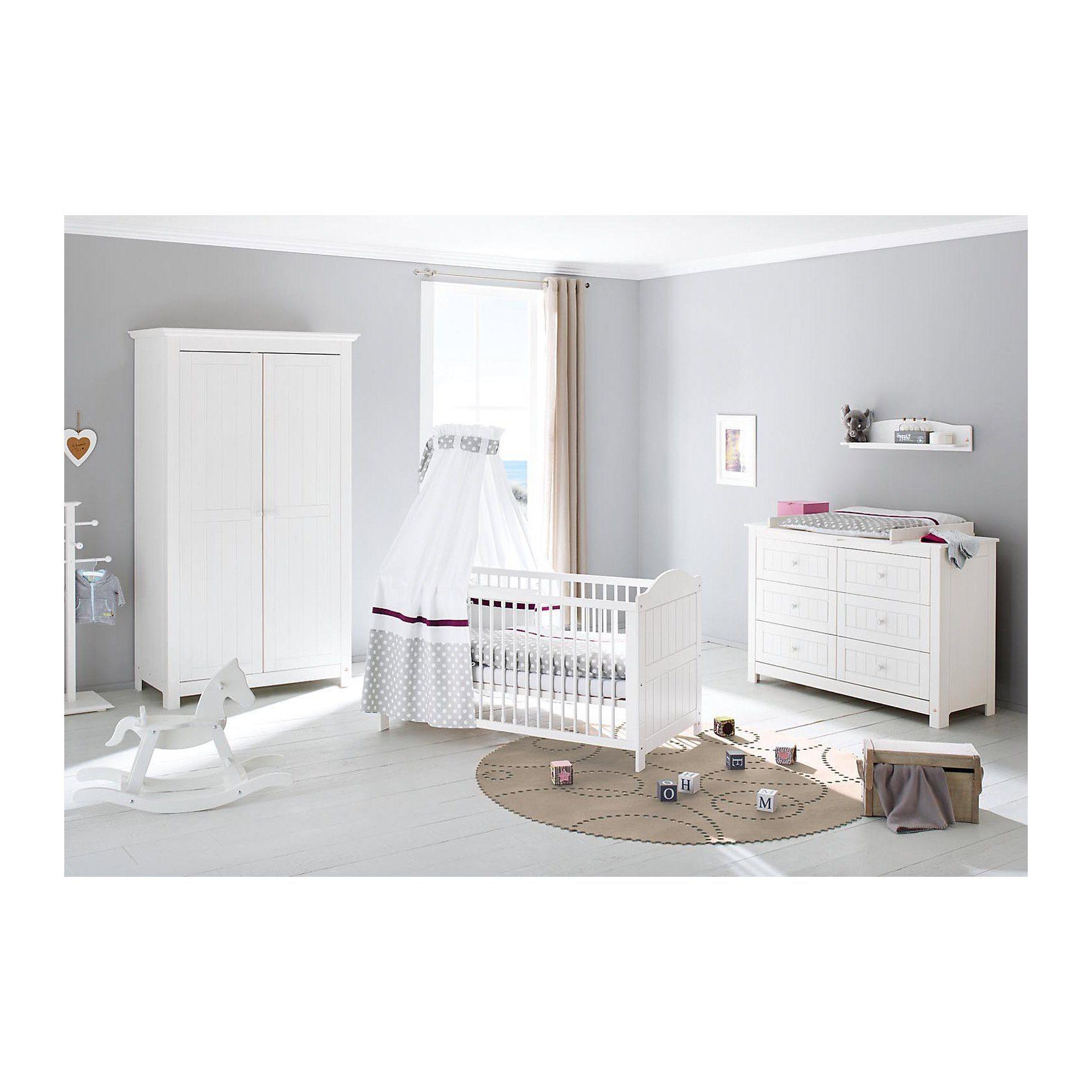 Pinolino Komplett Kinderzimmer NINA extrabreit, (Kinderbett, Wickelko