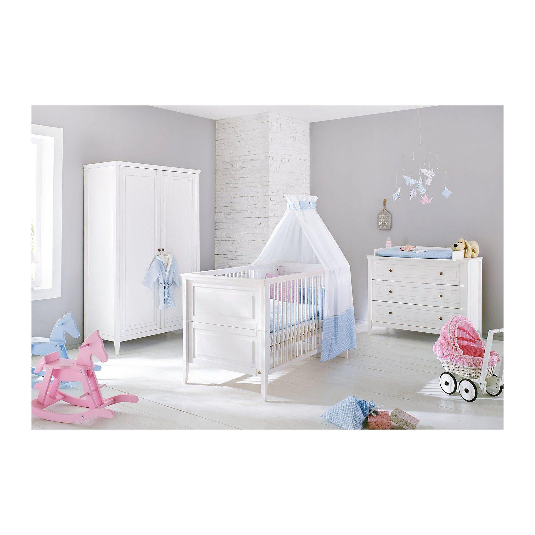 Pinolino Komplett Kinderzimmer SMILLA, (Kinderbett, Wickelkommode ...