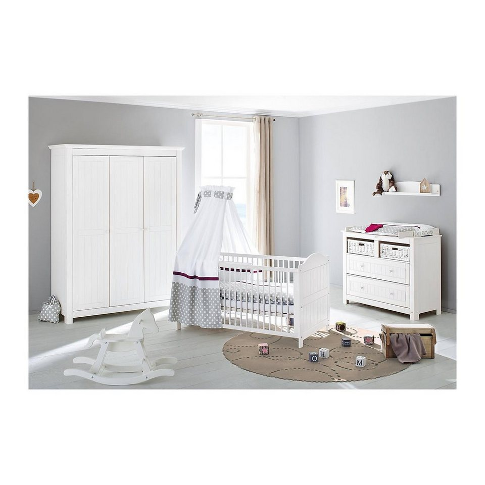 pinolino komplett kinderzimmer nina extrabreit gro kinderbett wic online kaufen otto. Black Bedroom Furniture Sets. Home Design Ideas