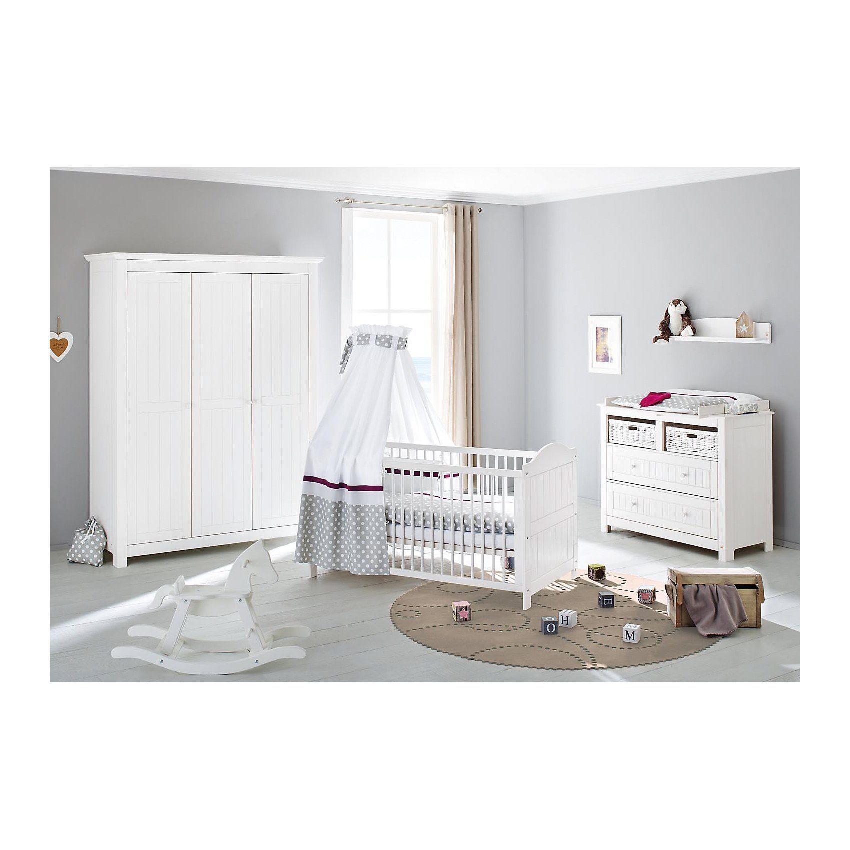 Pinolino Komplett Kinderzimmer NINA extrabreit/groß, (Kinderbett, Wic