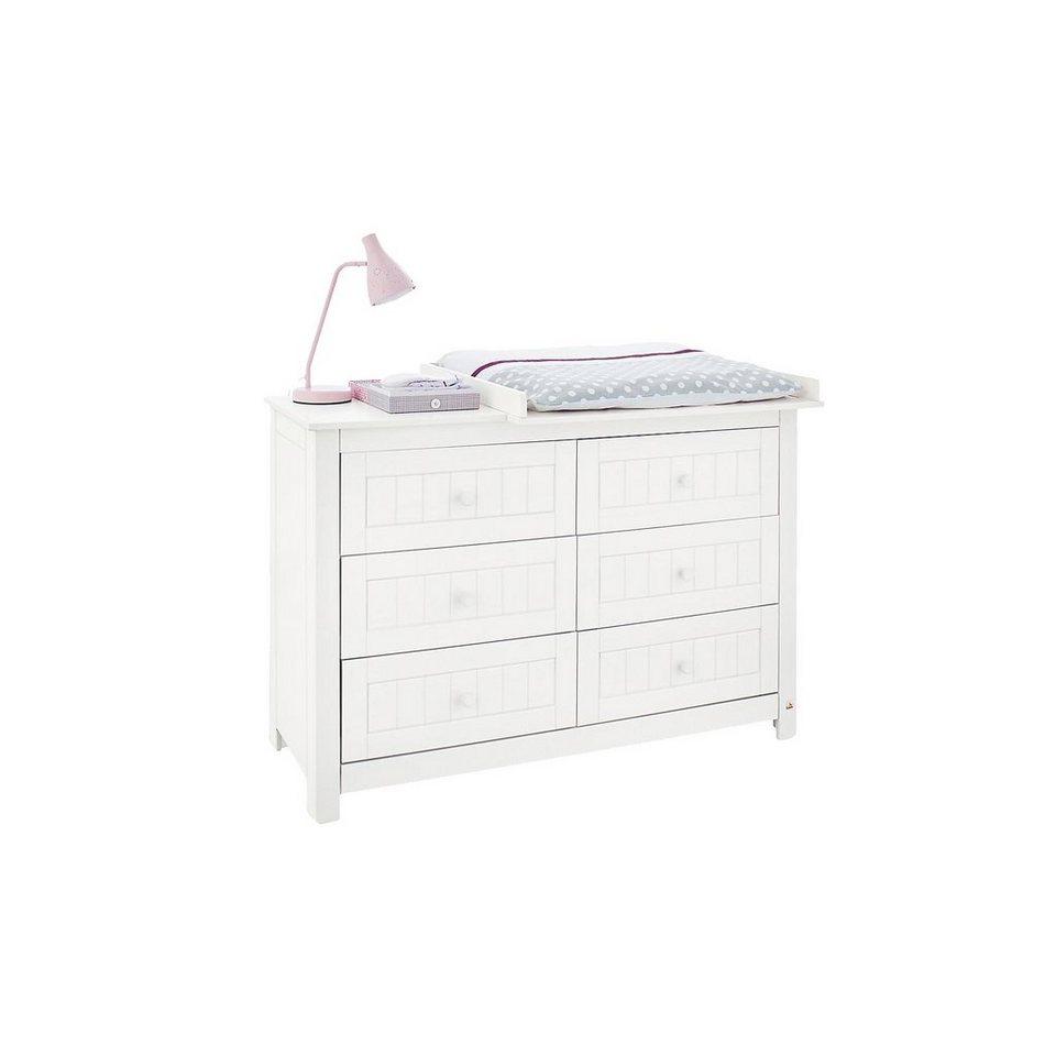 Pinolino Wickelkommode NINA, Fichte weiß lasiert, 140 cm in weiß