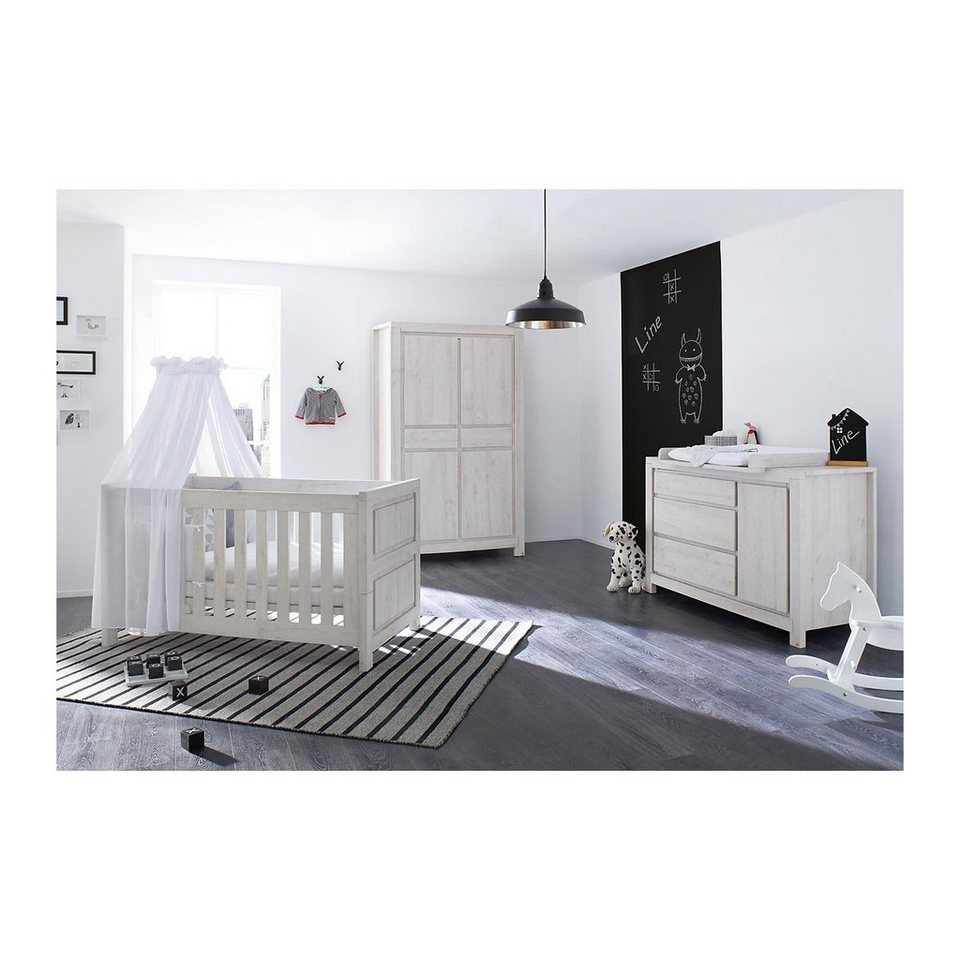 pinolino komplett kinderzimmer line breit kinderbett. Black Bedroom Furniture Sets. Home Design Ideas