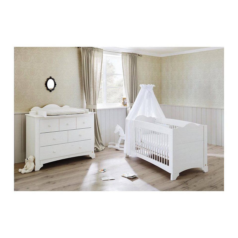 pinolino sparset pino kinderbett und wickelkommode kiefer wei la online kaufen otto. Black Bedroom Furniture Sets. Home Design Ideas