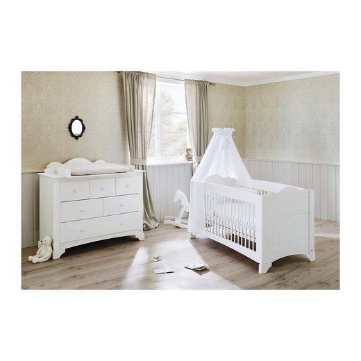 pinolino sparset pino kinderbett und wickelkommode kiefer wei la online kaufen otto. Black Bedroom Furniture Sets. Home Design Ideas