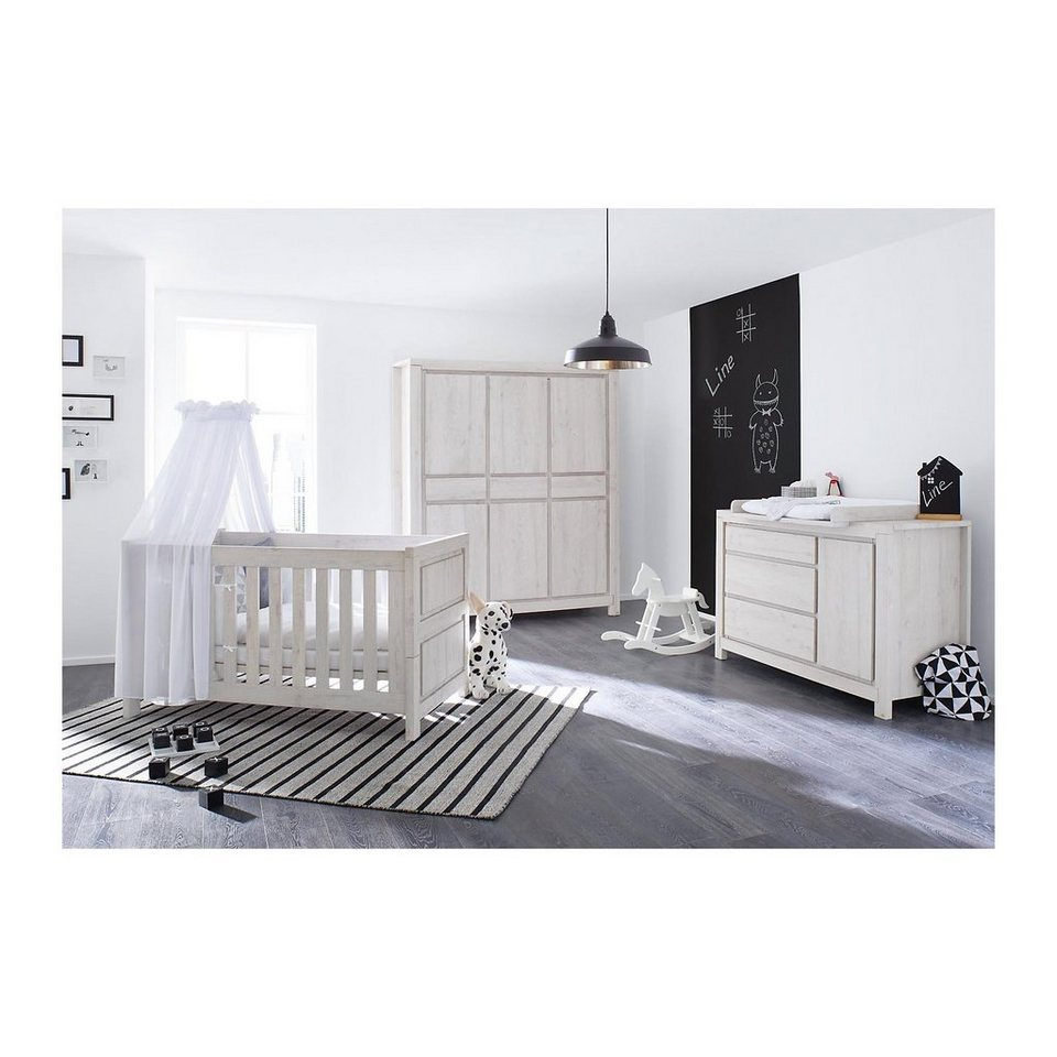 pinolino komplett kinderzimmer line breit kinderbett wickelkommode online kaufen otto. Black Bedroom Furniture Sets. Home Design Ideas