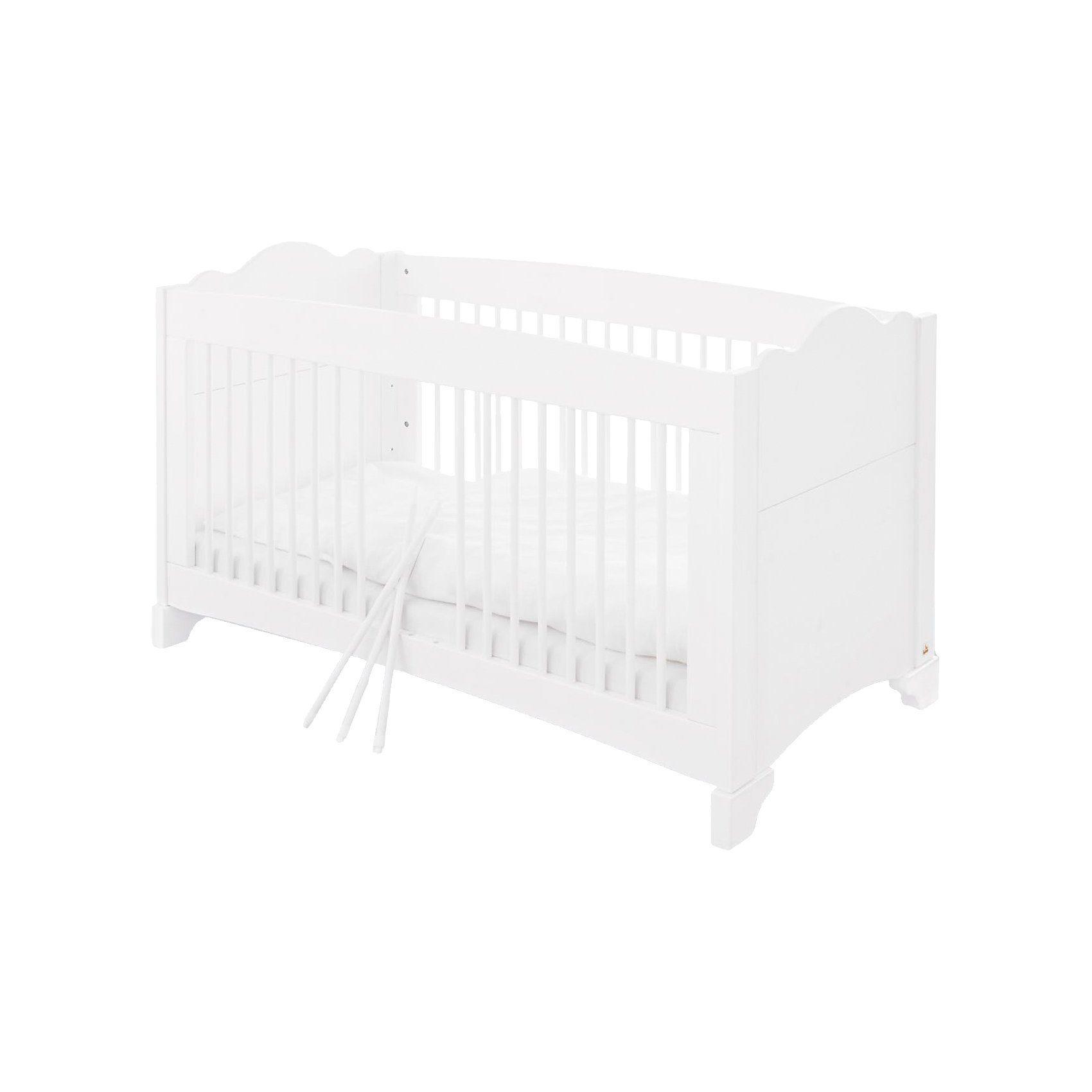 Pinolino Kinderbett PINO, Kiefer weiß lasiert, 70 x 140 cm