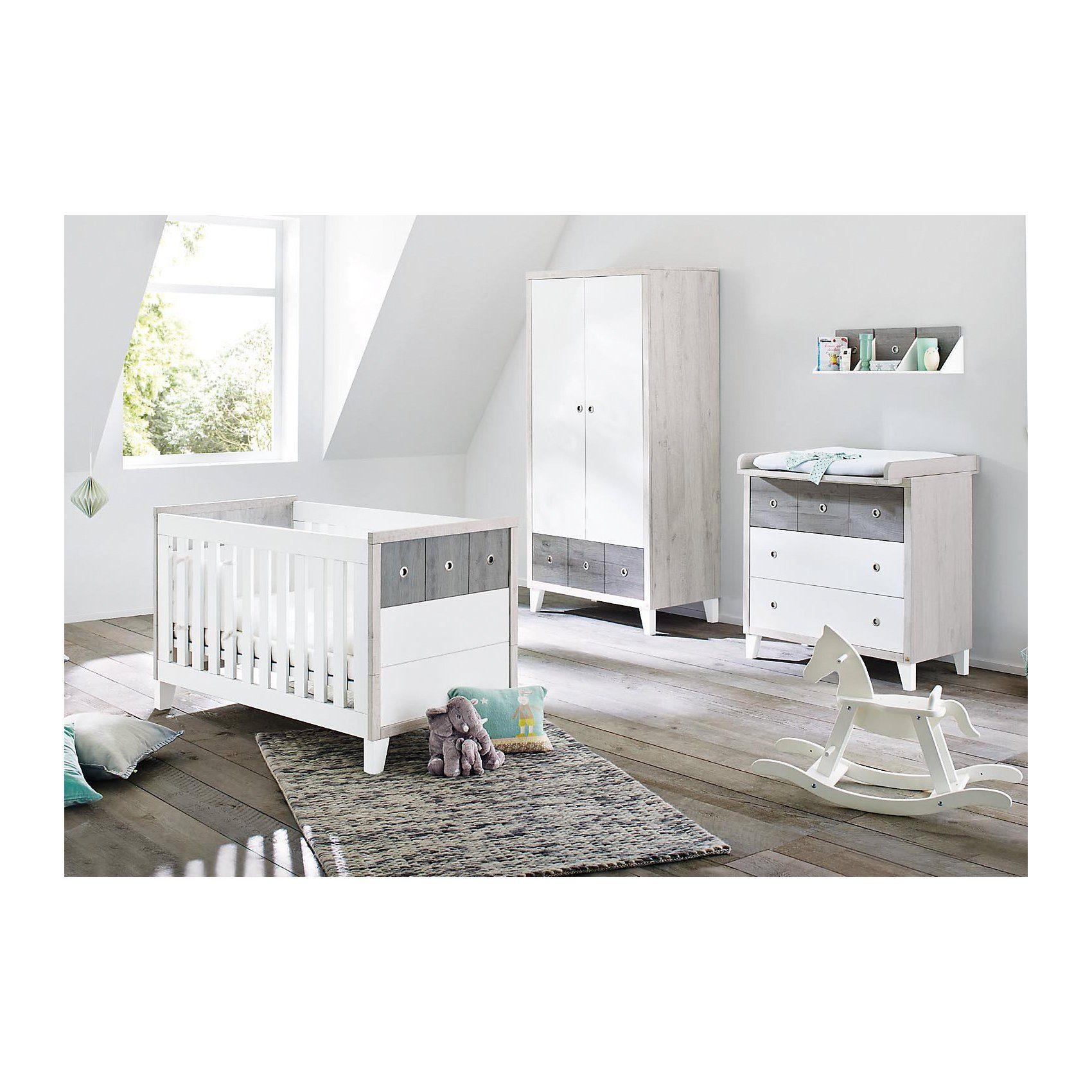 Pinolino Komplett Kinderzimmer HARPER, (Kinderbett, Wickelkommode und
