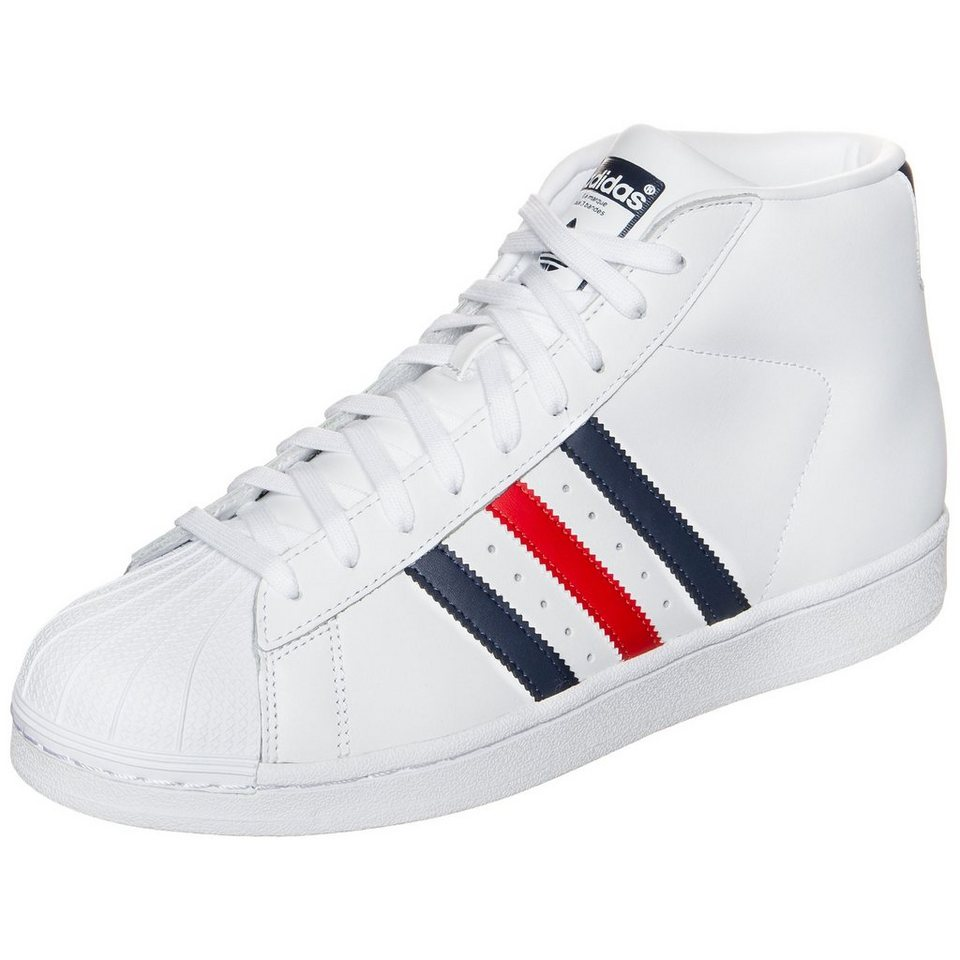 adidas Originals Superstar Pro Model Sneaker in weiß / rot / blau