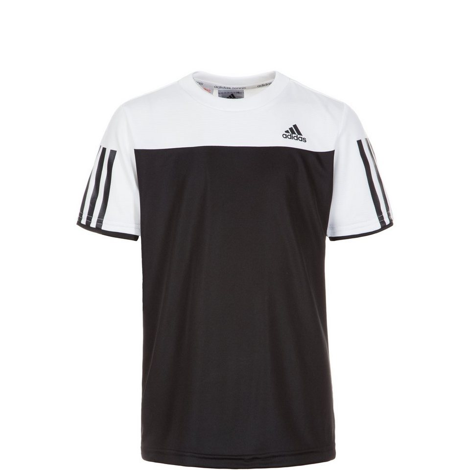 adidas Performance Club Tennisshirt Kinder in schwarz / weiß