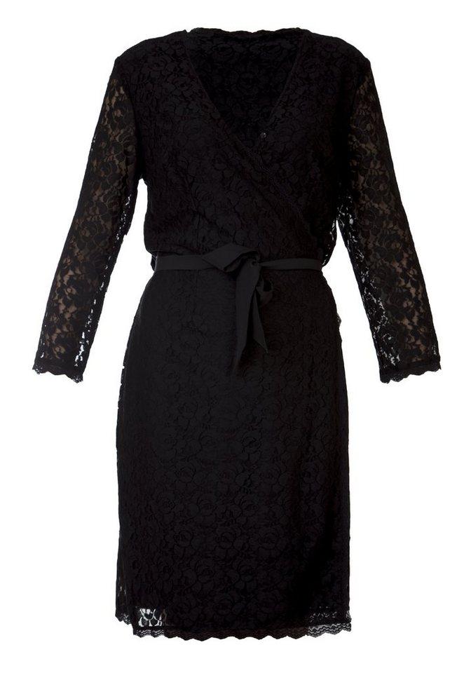 TUZZI Spitzen Wickelkleid in black