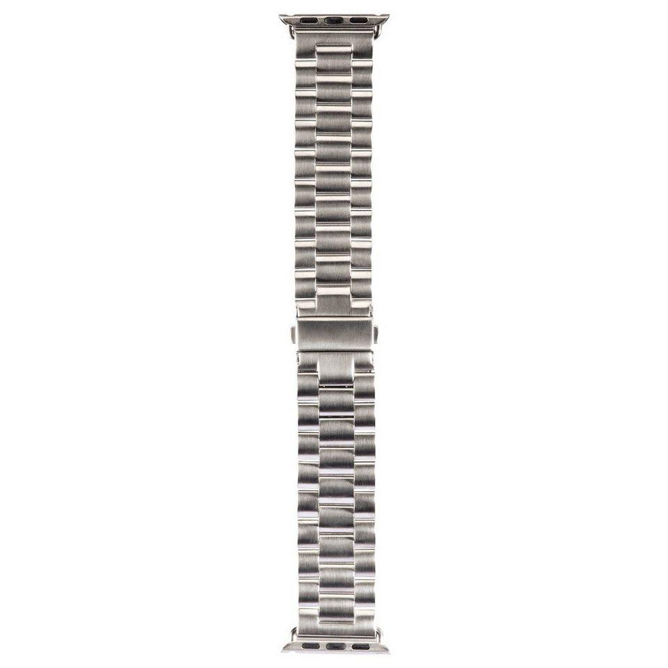 Hama Armband für Apple Watch 42 mm Uhrenarmband Edelstahl »Wechselarmband Ersatzband« in Silber
