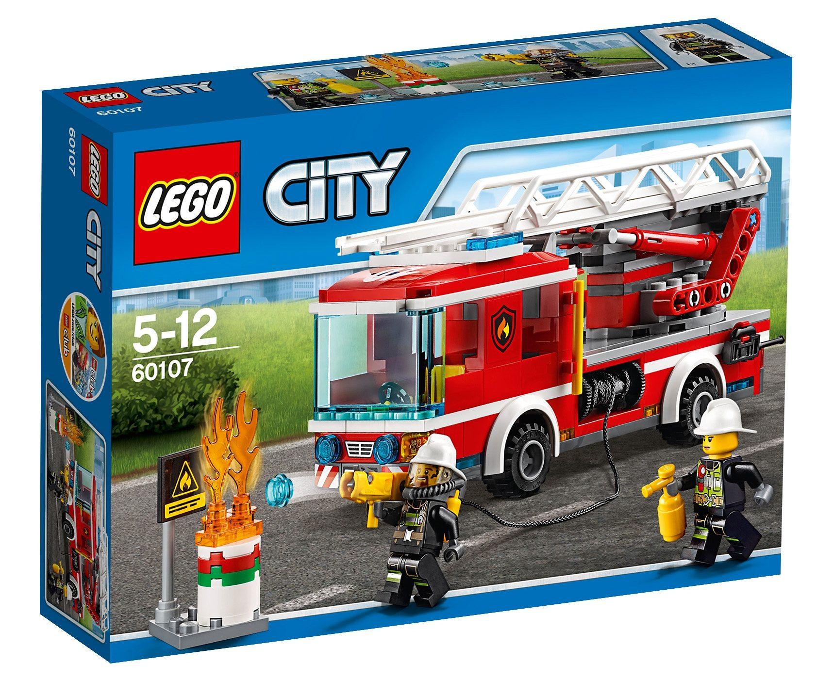 LEGO®, Feuerwehrfahrzeug mit fahrbarer Leiter (60107), »LEGO® City«