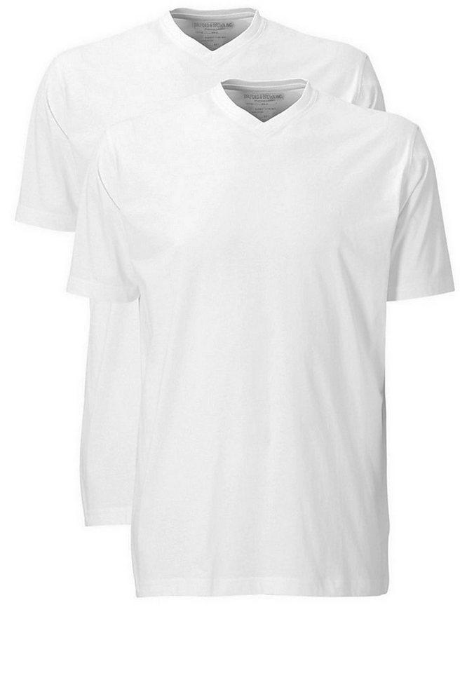 melvinsi fashion Basic Stretch T-Shirt Doppelpack in Weiß