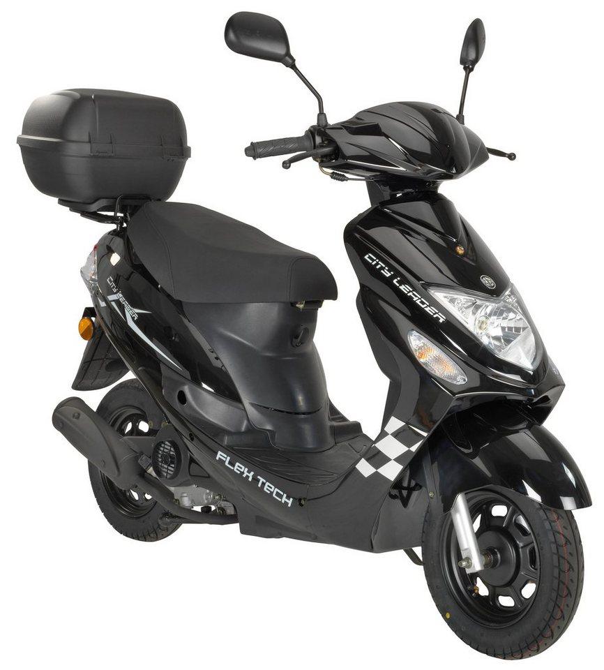 flex tech motorroller cityleader 50 ccm 45 km h mit topcase online kaufen otto. Black Bedroom Furniture Sets. Home Design Ideas