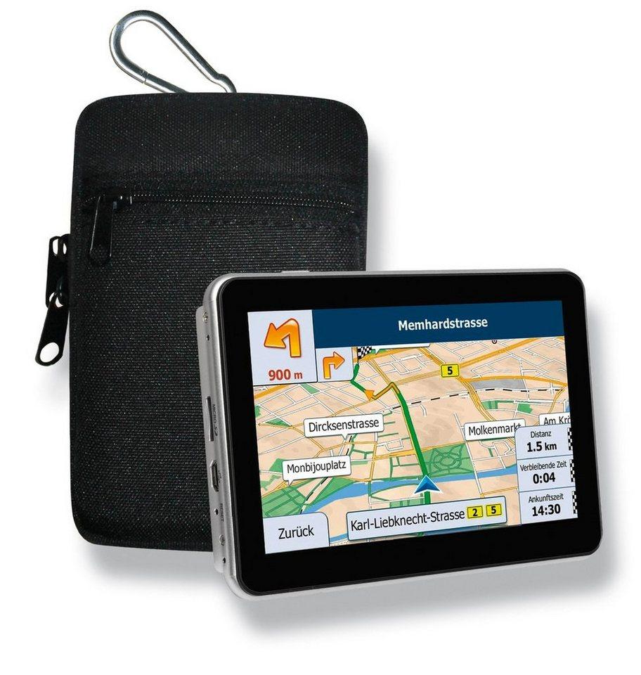 Blaupunkt Navigationsgerät »Travelpilot 53 EU inkl. Tasche« in Schwarz-Silber