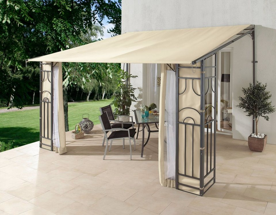 terrassendach rollpavillon 3x4 m farbe beige otto. Black Bedroom Furniture Sets. Home Design Ideas