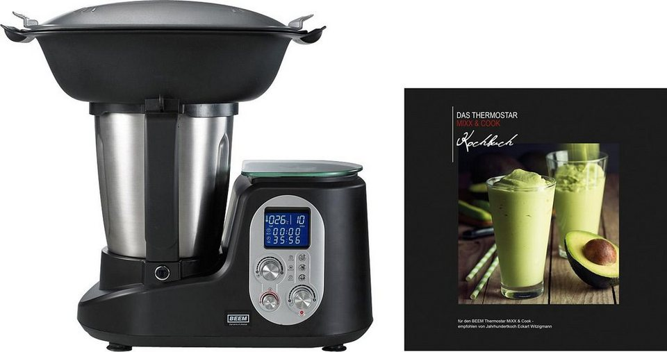 BEEM Küchenmaschine Thermostar MiXX & Cook, 2 Liter, 1200 Watt in schwarz