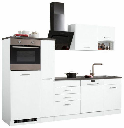 HELD MÖBEL Küchenzeile »Haiti«, mit E-Geräten, Breite 260 cm