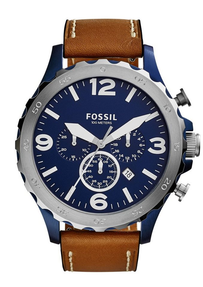 Fossil Chronograph, »NATE, JR1504« in braun