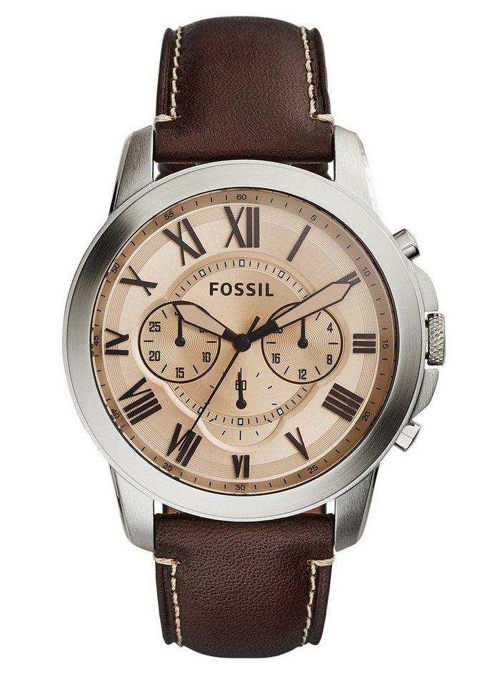 Fossil Chronograph, »GRANT, FS5152« in dunkelbraun