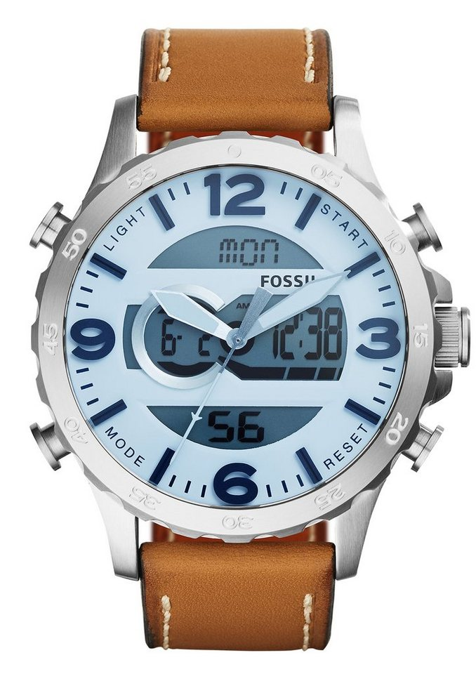 Fossil Chronograph »NATE, JR1492« in hellbraun