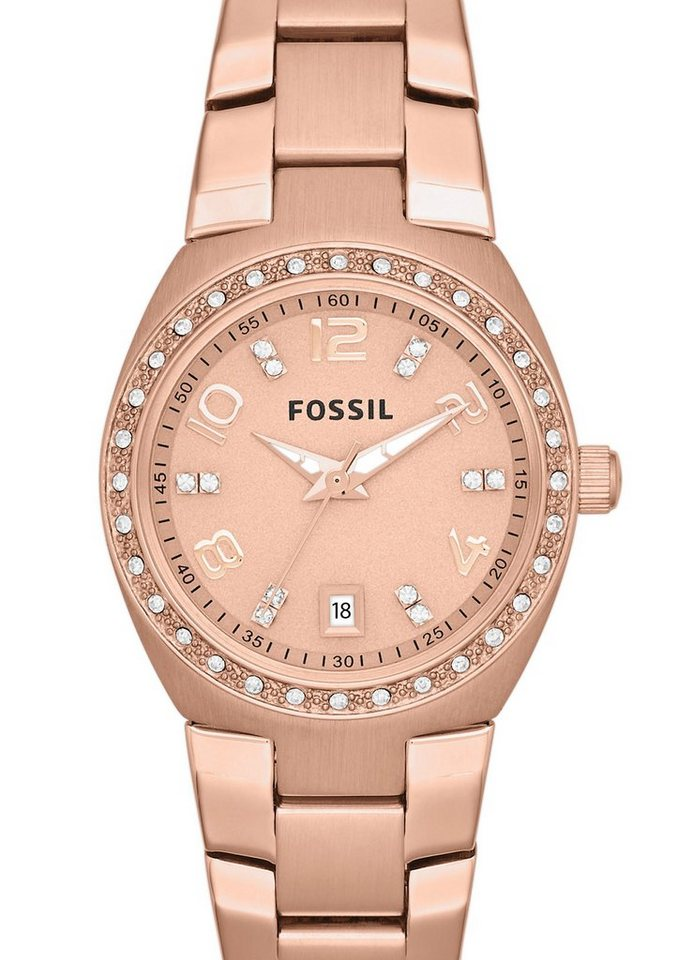 Fossil Armbanduhr, »SERENA, AM4508« in roségoldfarben