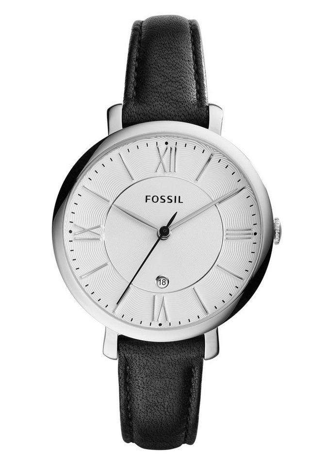 Fossil Quarzuhr »Jacqueline, ES3972« in schwarz