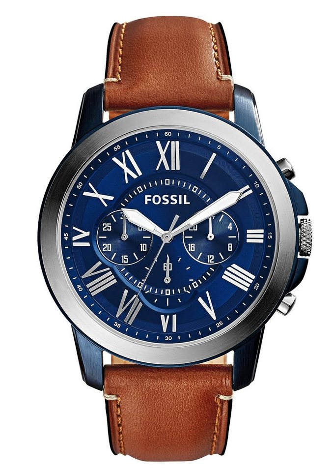 Fossil Chronograph »GRANT, FS5151« in hellbraun