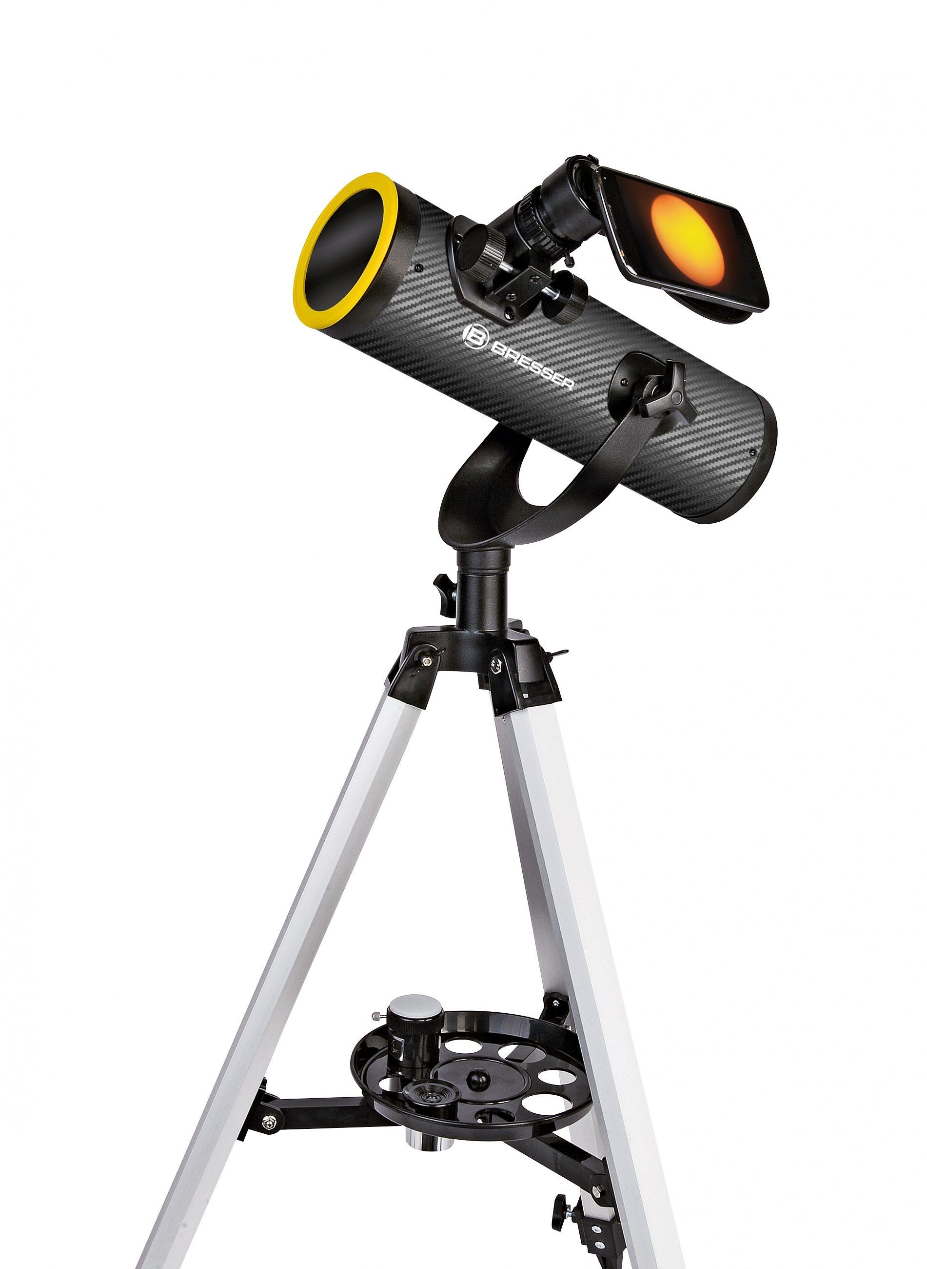 BRESSER Teleskop »BRESSER Solarix 76/350 Teleskop mit Sonnenfilter«