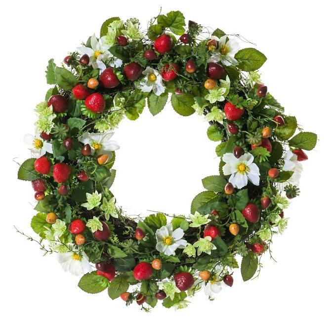 Mailord Collection Dekokranz, »Erdbeeren« in rot, grün, weiß