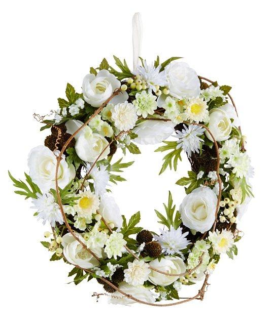 Mailord Collection Kranz, »Creme Blüten« in weiß, beige, grün