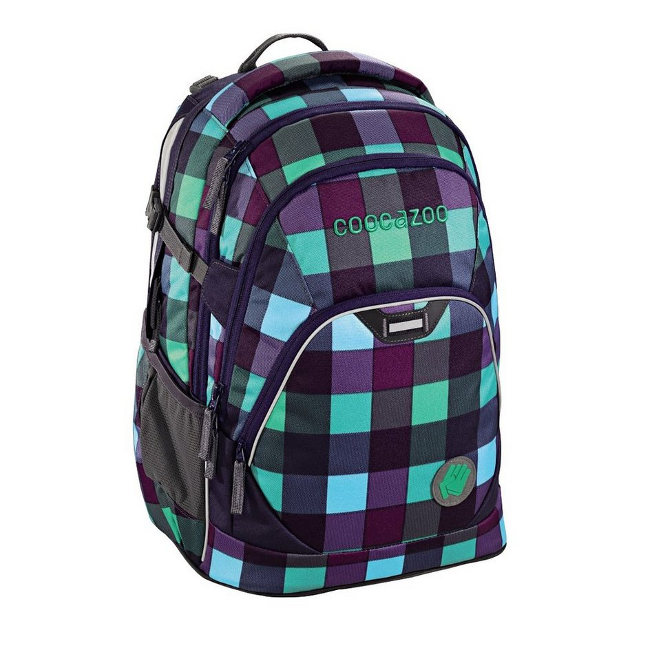 "Coocazoo Rucksack ""EvverClevver2"" mit Laptopfach »Green Purple District«"
