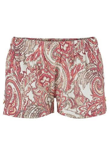 S.oliver Red Label Bodywear Shorty With Paisley Pattern And Peak Use